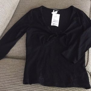 Bebe black v neck top.